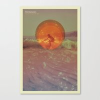 Sun In A Cup Of Sea Canvas Print