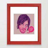 The Walking Dead - Daryl… Framed Art Print