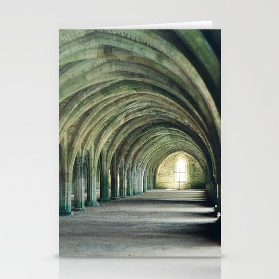 Fountains Abbey Crypt Stationery Card