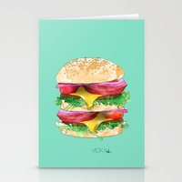 California Burger Stationery Cards