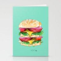 California Burger Stationery Cards