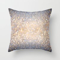 Glimmer of Light (Ombré Glitter Abstract) Throw Pillow