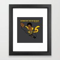 Superman Man Framed Art Print
