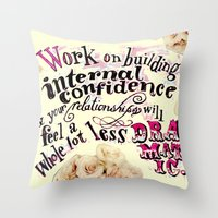 Relationships: Yellow  Throw Pillow