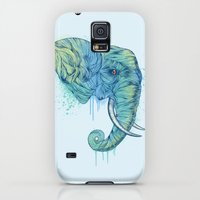 Galaxy S5 Cases featuring Elephant Portrait by Rachel Caldwell