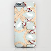 iPhone & iPod Case featuring Tea and Cat Pattern by Hannah Stevens