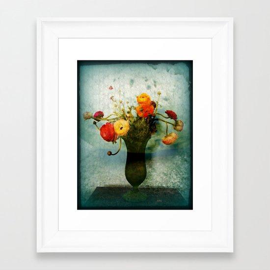 Bringing the Bloom Inside  Framed Art Print