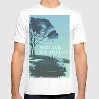 You Are My Oxygen Mens Fitted Tee White SMALL