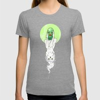 Girl Of The Lagoon Womens Fitted Tee Tri-Grey SMALL