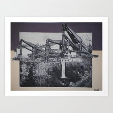 industrial fall Art Print