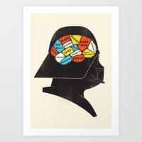 Vader Phrenology Art Print