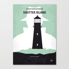 No513 My Shutter Island minimal movie poster Canvas Print