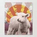 Baa Baa Beach Sheep... Canvas Print