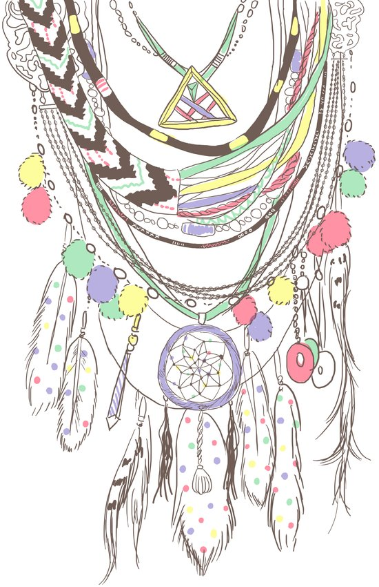 Tribal Necklace Canvas Print