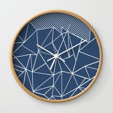 Ab Lines 45 Navy Wall Clock
