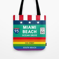 Miami Beach Vintage Print Poster Decoration Tote Bag