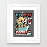 Proper Tidy Bites Framed Art Print