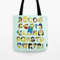 Simpsons Alphabet Tote Bag
