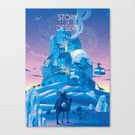 STORY Of DESERT Canvas Print