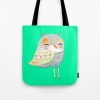 owl illustration, owl print, owl art Tote Bag