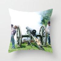 Civil War Era Canon Fire Throw Pillow