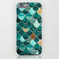 iPhone Cases featuring REALLY MERMAID by Monika Strigel