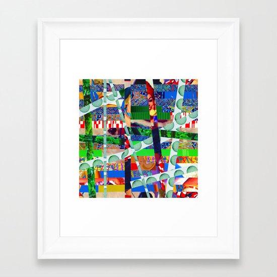 Chris (stripes 14) Framed Art Print