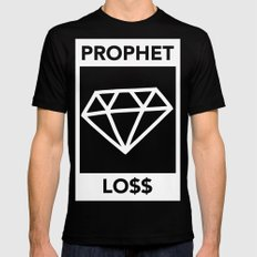 P&Ls: Diamond White Black SMALL Mens Fitted Tee