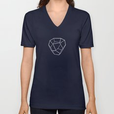 Tetrahedral Pentagonal Dodecahedron Unisex V-Neck
