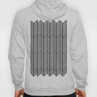 Herringbone Black Hoody