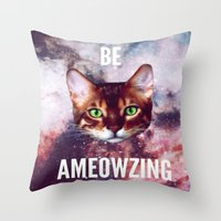 be ameowzing Throw Pillow