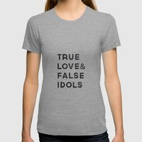 True love Womens Fitted Tee Athletic Grey SMALL