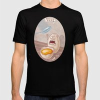 Eggs - Food series Mens Fitted Tee Black SMALL