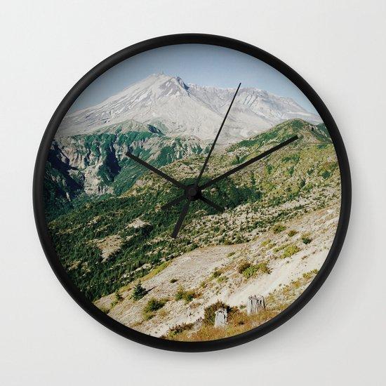 Mt St Helens Wall Clock