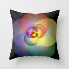 Colored Circles Throw Pillow