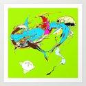 因幡の白兎 - WHITE HARE OF INABA Art Print