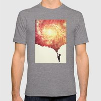 The universe in a soap-bubble! (Awesome Space / Nebula / Galaxy Negative Space Artwork) Mens Fitted Tee Tri-Grey SMALL
