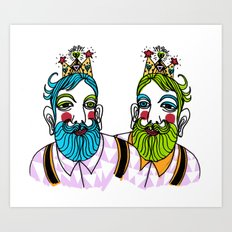 Crown Beard Twins Art Print
