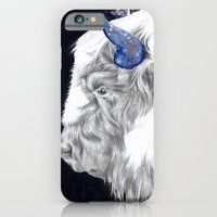 iPhone & iPod Case featuring Space Cow by Anna Tromop Illustration