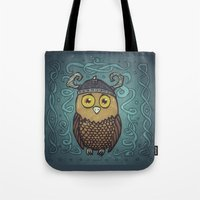 Brave Viking Owl Tote Bag