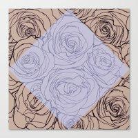 Art Nouveau Rose Canvas Print