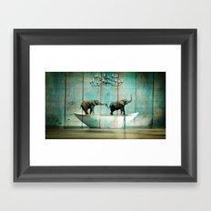 Elefantos Framed Art Print