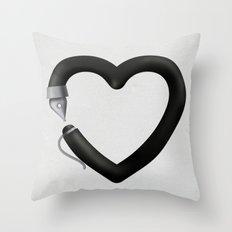 Love to write Throw Pillow