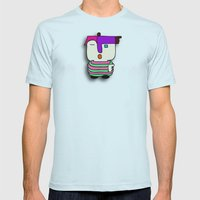 I'm Somebody Mens Fitted Tee Light Blue SMALL
