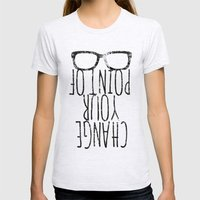 Point Of View Womens Fitted Tee Ash Grey SMALL