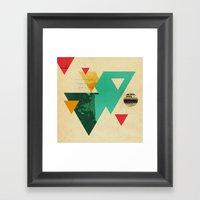 Monster Teeth II Framed Art Print