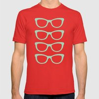Glasses #5 Mens Fitted Tee Red SMALL