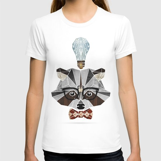 raccoon nerd T-shirt