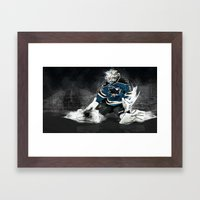 The Puck Stops here Framed Art Print