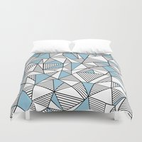 Abstraction Lines Sky Bl… Duvet Cover
